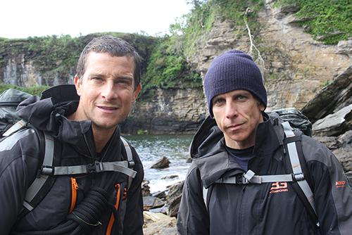 Bear Grylls et l'acteur Ben Stiller