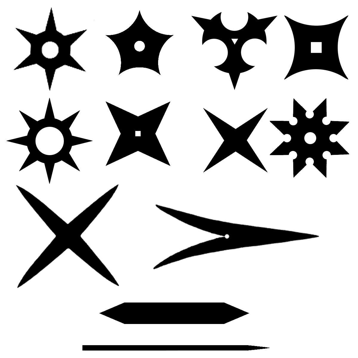 Toutes les formes des Shurikens