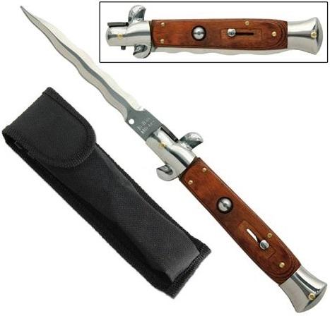 Grand couteau Italien 24cm automatique cran d'arret - Design
