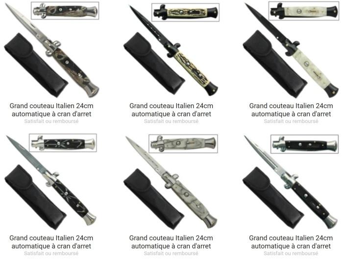 Un grand choix de couteau automatique est présent dans la boutique Couteau Azur !