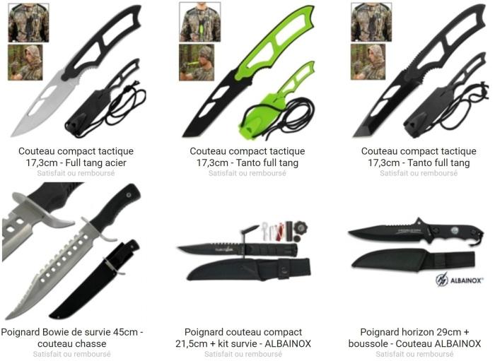 Sur Couteau Azur, il y a un grand choix de poignard en vente !