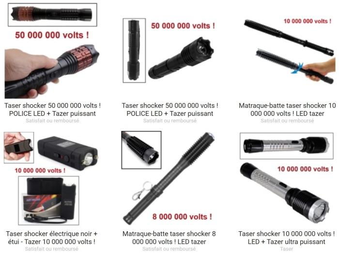 Un taser efficace pour votre protection ? Rendez-vous sur Couteau Azur !