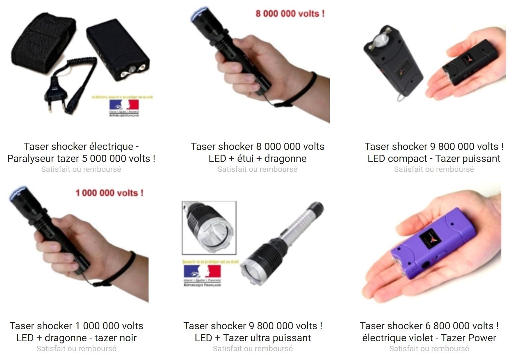 Le taser est LE moyen de défense, il est en vente dans la boutique Couteau Azur !