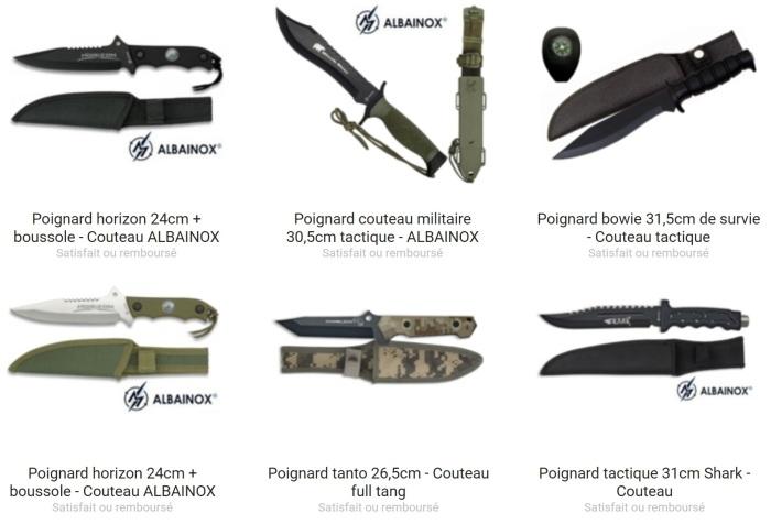 Le poignard est en vente dans la boutique Couteau Azur !