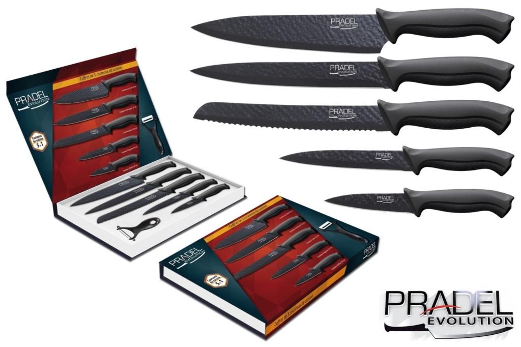 PRADEL Couteaux couteau ACIER coffret de cuisine table
